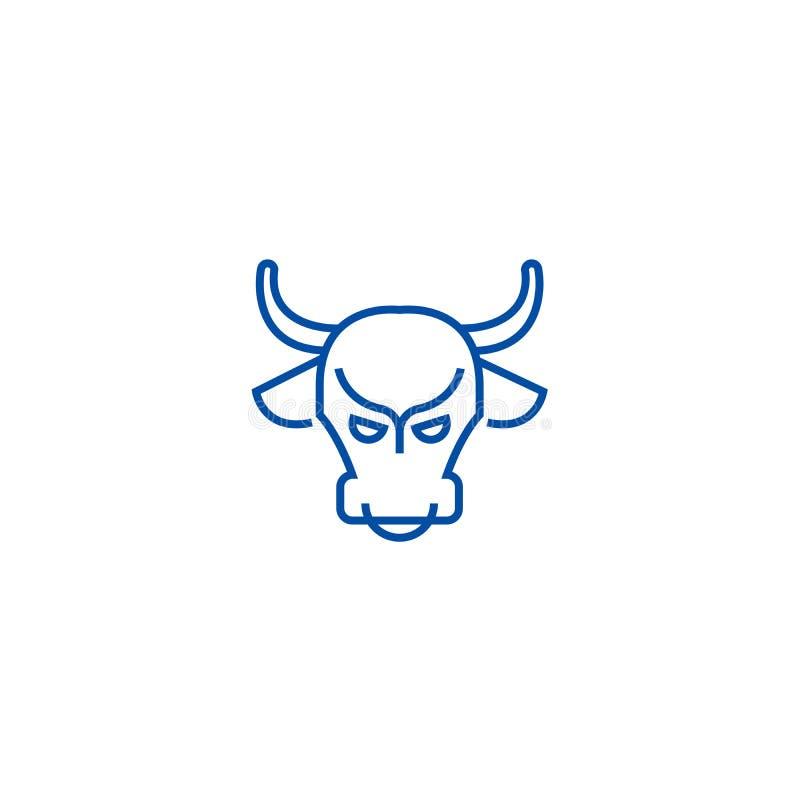 牛市,股票市场,看涨线象概念 牛市,股票市场,看涨平的传染媒介标志,标志,概述 皇族释放例证