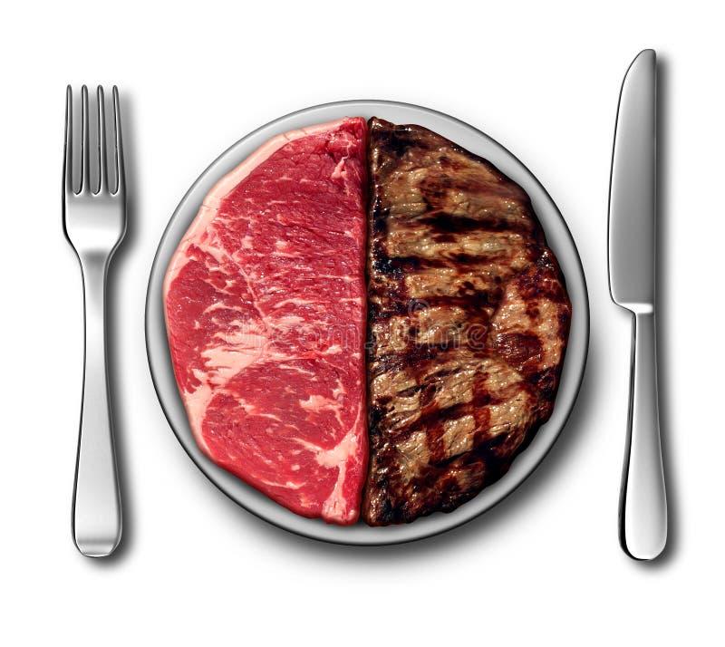 牛排晚餐标志 库存例证