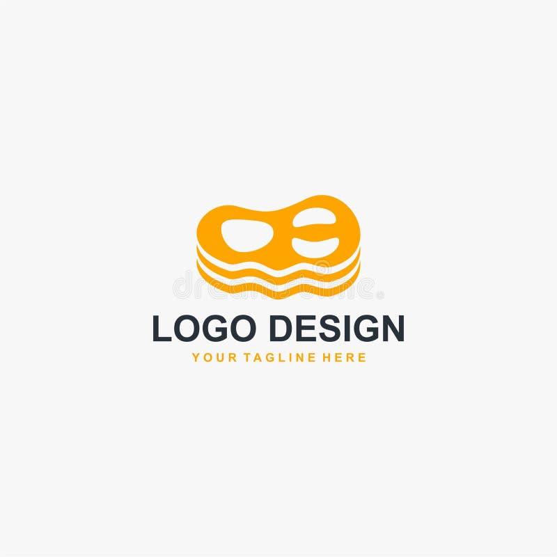 牛排肉商标设计传染媒介 食物餐馆业的商标设计 库存例证