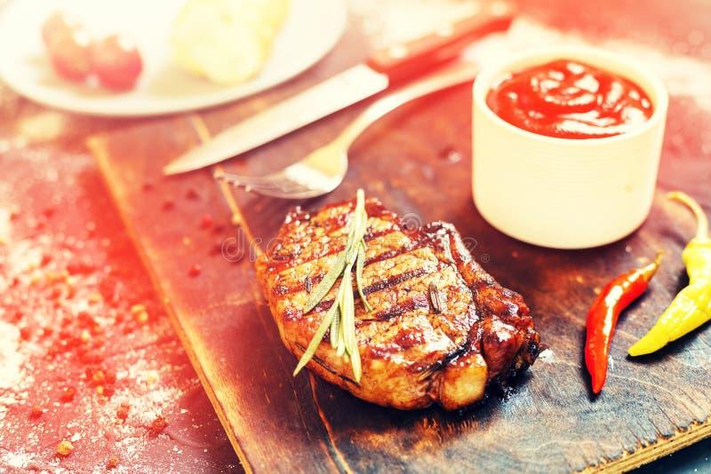 牛排,食物,烤肉,肉,格栅,牛肉,迷迭香, bbq,烤了, 图库摄影