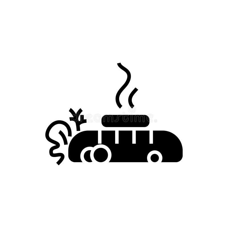 牛排-油煎的肉-与黄油象,传染媒介例证,在被隔绝的背景的黑标志的面包 库存例证