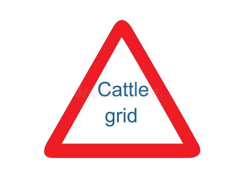 牛栅格标志传染媒介 库存例证