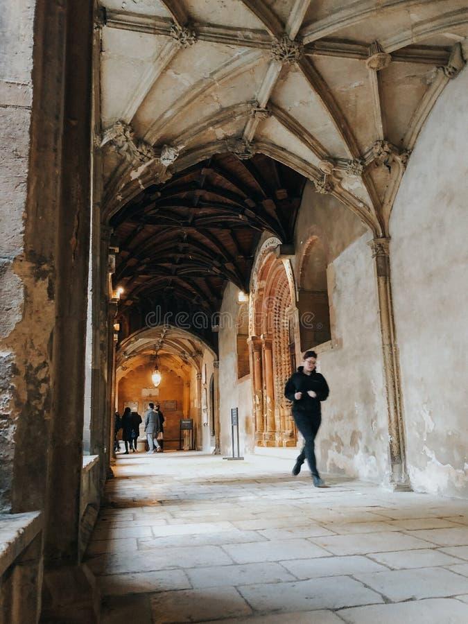 牛津大学基督堂学院学院走廊  库存照片