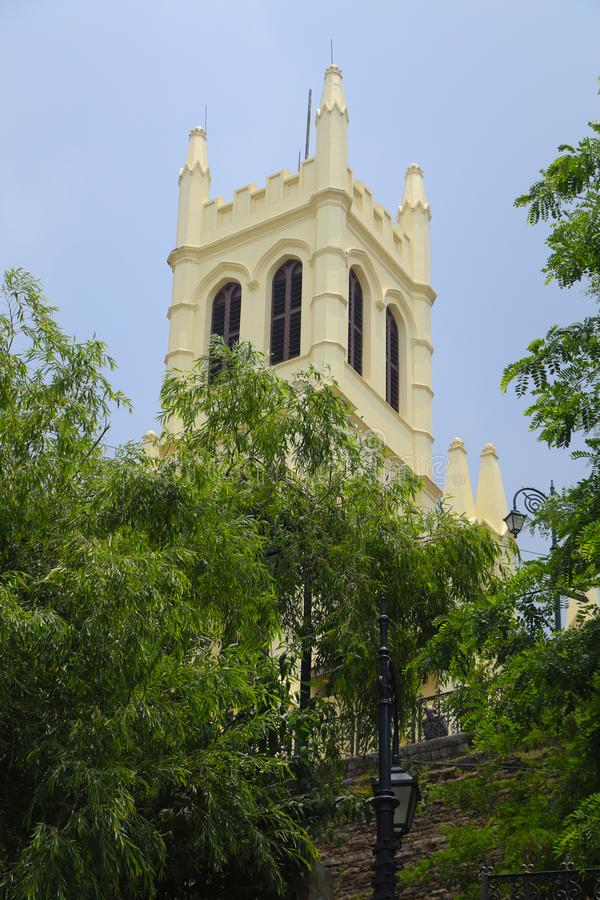 牛津大学基督堂学院,西姆拉 大厦,印度 库存图片