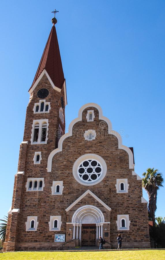 牛津大学基督堂学院,路德教会在温得和克,纳米比亚 免版税库存图片