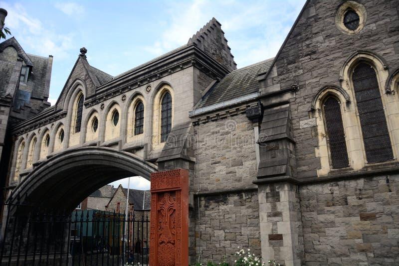 牛津大学基督堂学院,都伯林,爱尔兰 免版税库存图片