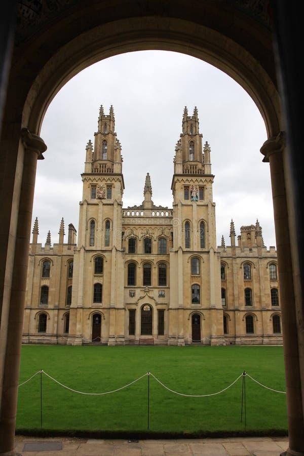 牛津大学 库存照片
