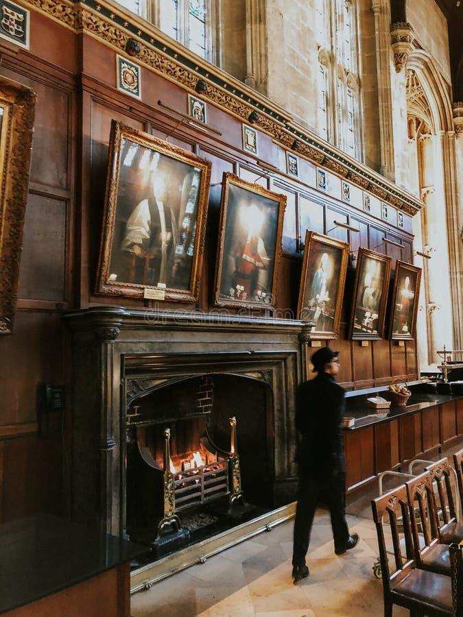 牛津,英国:伟大的壁炉的照片 库存图片