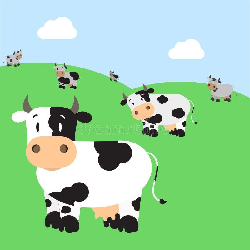 牛牧群 皇族释放例证