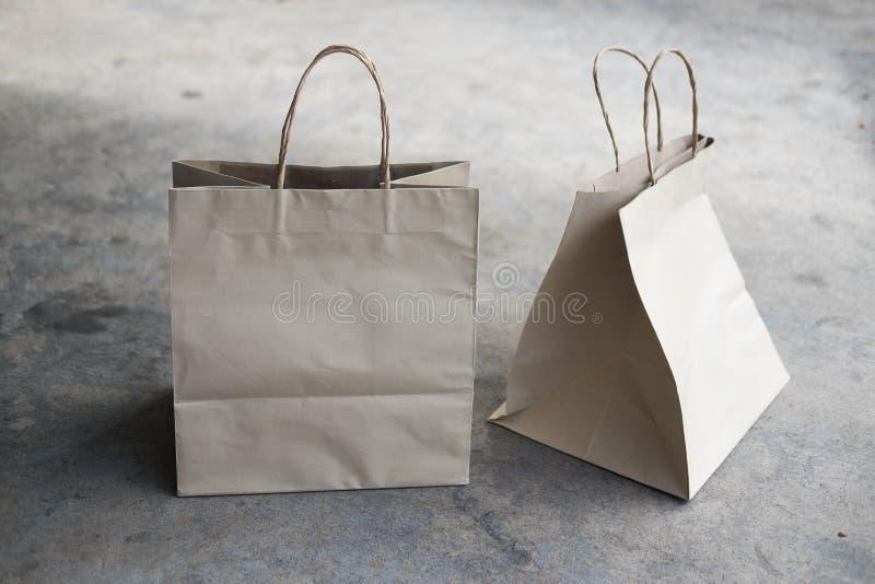 牛皮纸生态袋子 免版税库存照片