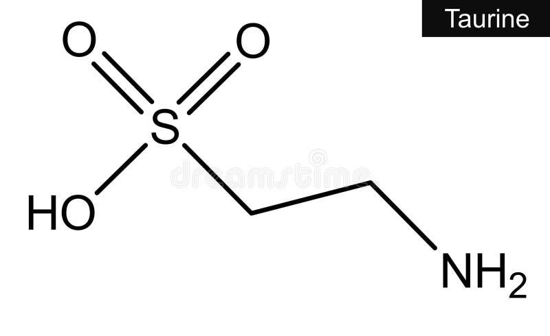 牛磺酸分子结构  免版税库存照片