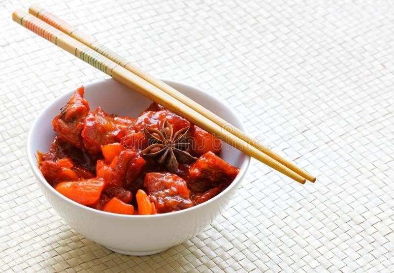 牛肉中国人蔬菜 库存照片
