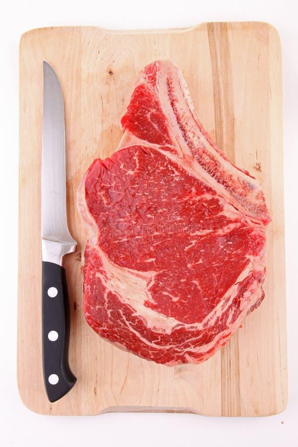 牛肉原始的肋骨 免版税库存照片