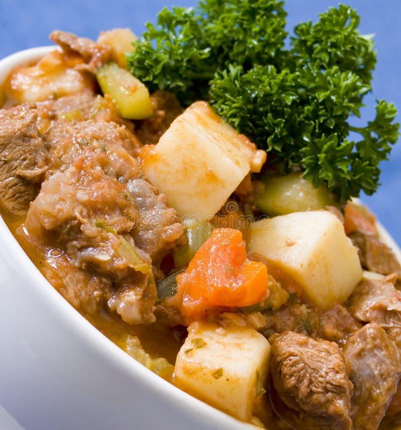 牛肉和素食者砂锅 免版税库存图片