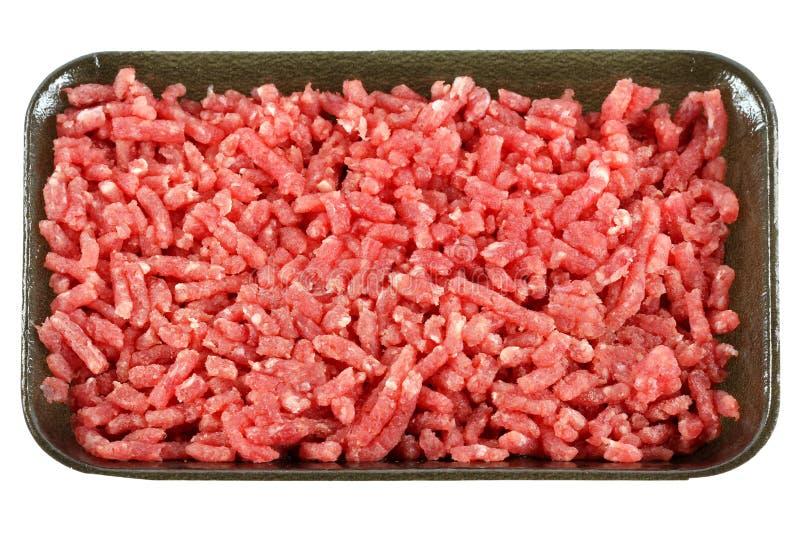 牛肉地面瘦肉剁碎原始 免版税库存图片