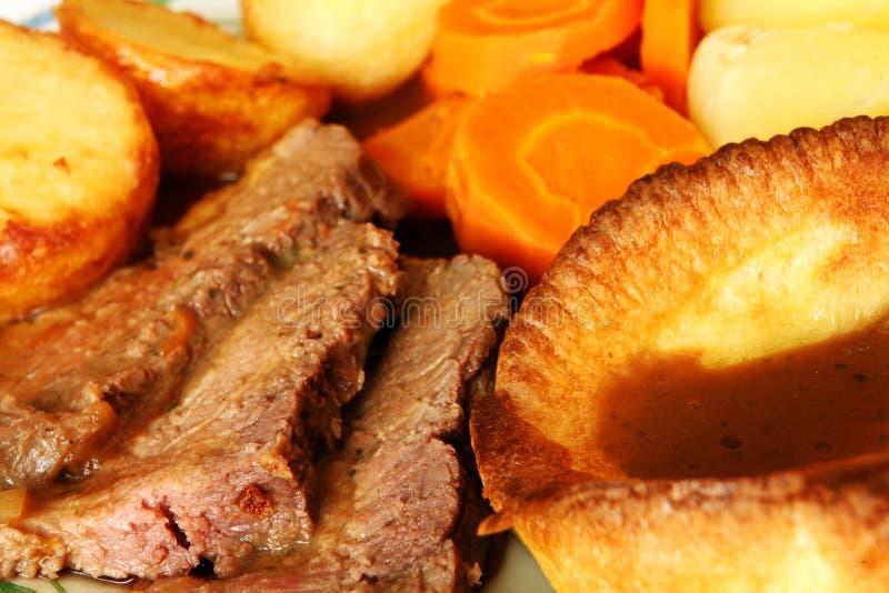 牛肉宏观膳食烘烤 库存图片