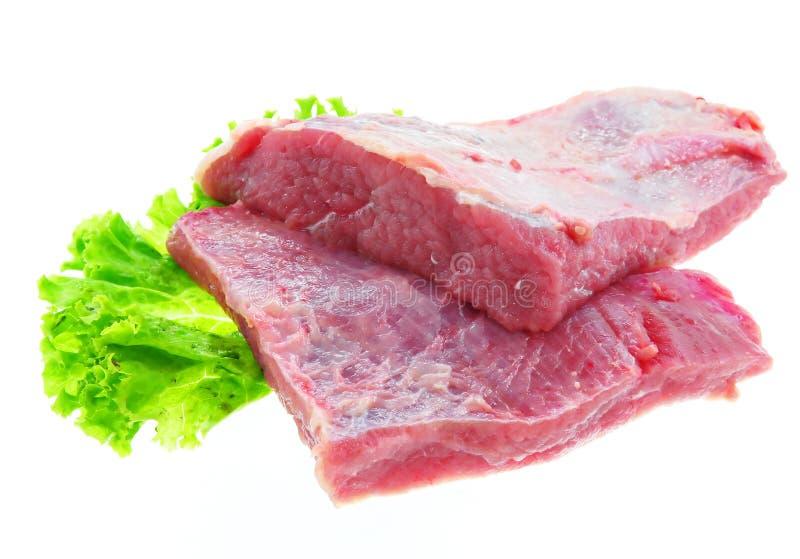 牛肉新鲜原始 库存图片