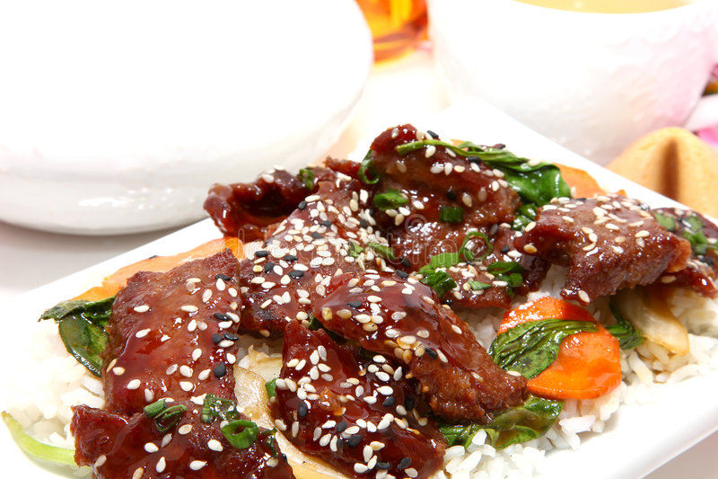 牛肉日本人teriyaki 库存照片