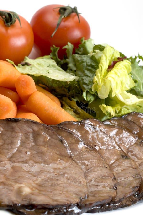 牛肉正餐烘烤 免版税图库摄影