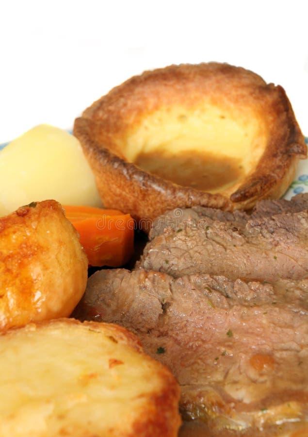 牛肉正餐烘烤 库存图片
