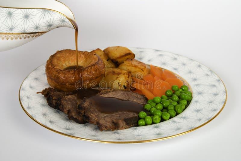 牛肉正餐烘烤 图库摄影