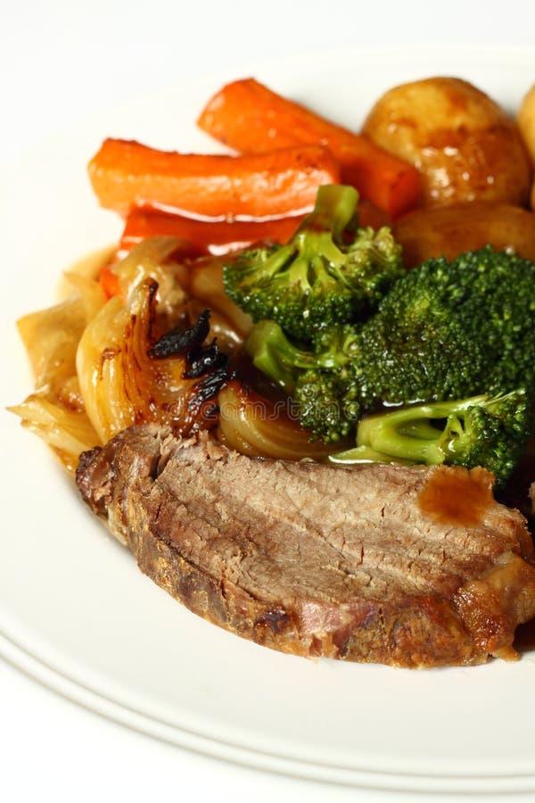牛肉正餐 库存图片
