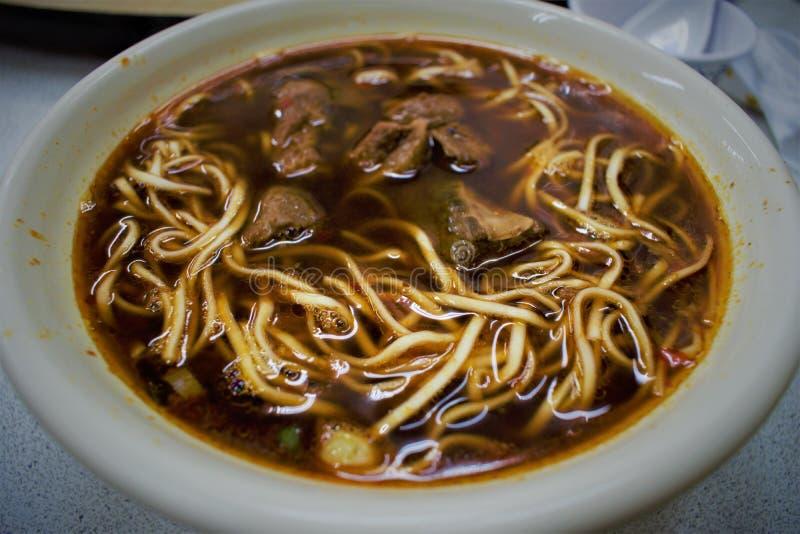 牛肉汤面niuroumian在台湾 库存图片