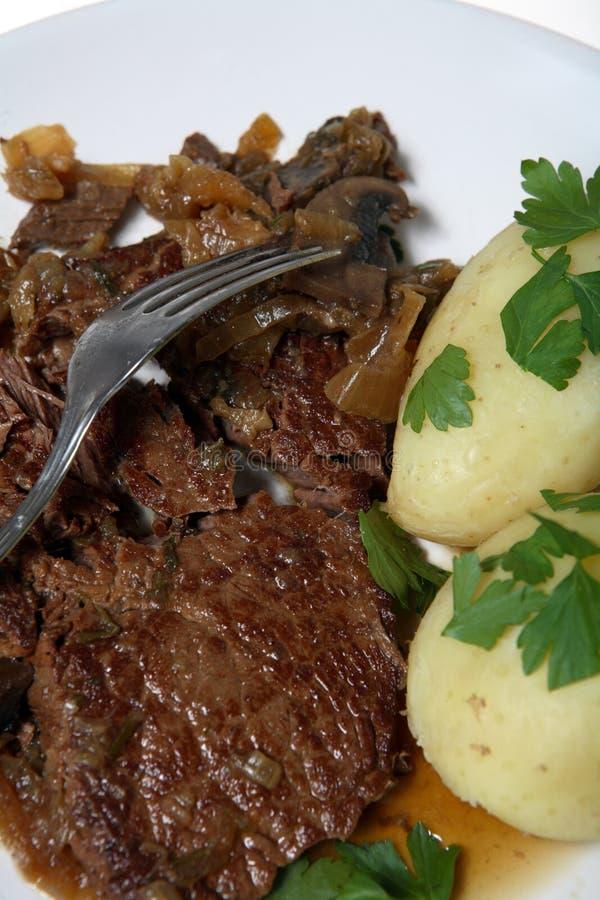 牛肉炖了正餐牛排炖煮的食物 库存照片