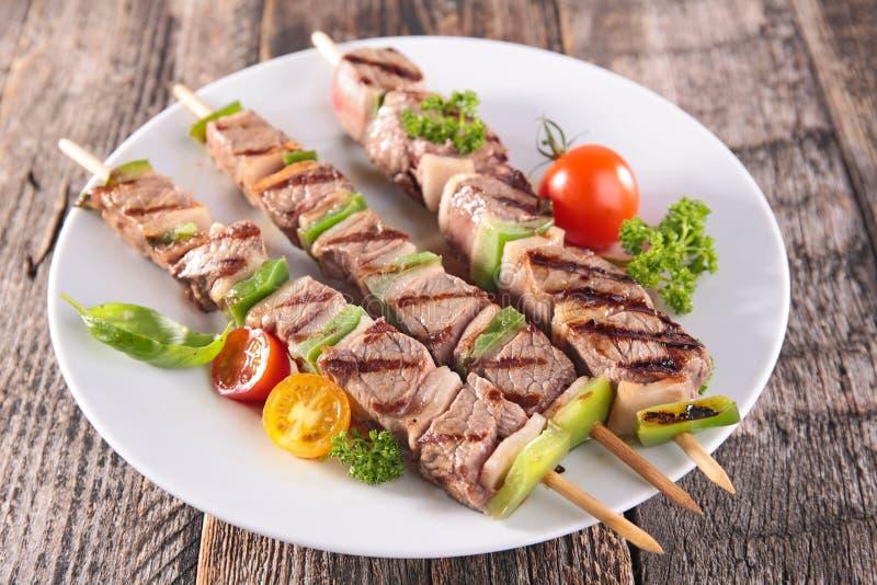 牛肉烤沙拉 免版税库存照片