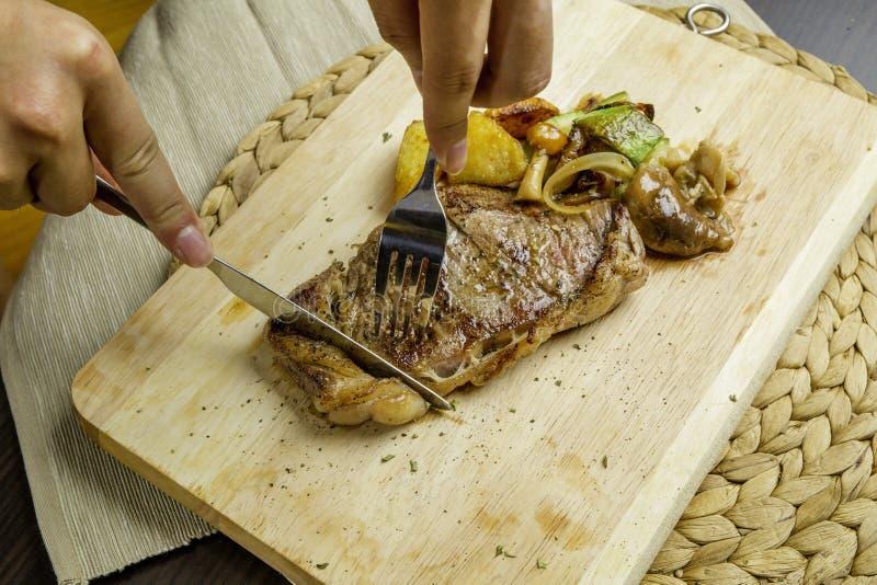 牛肉烤牛排 库存图片