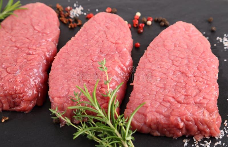 牛肉牛腰肉排 库存照片