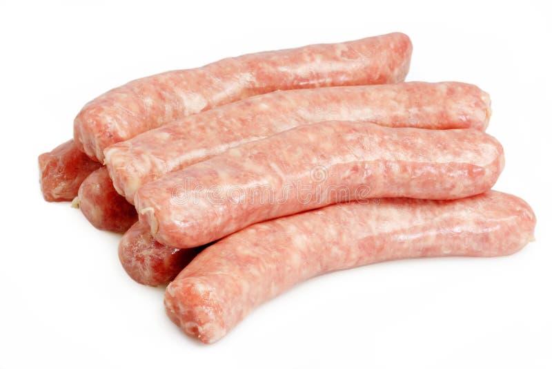 牛肉猪肉香肠 库存图片
