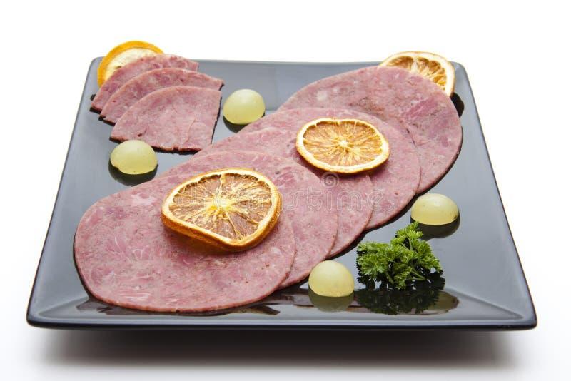 牛肉盐腌的柠檬 免版税库存图片