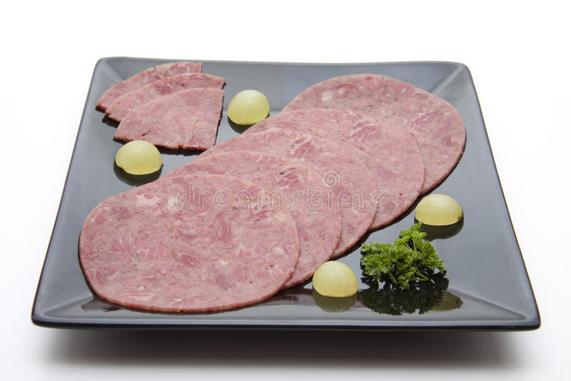 牛肉盐腌的葡萄 免版税库存照片