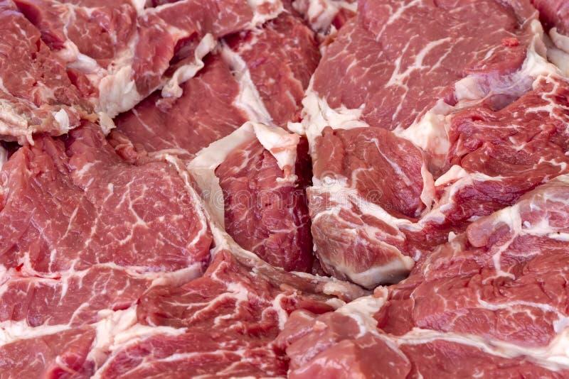 牛肉砂锅原始的牛排 库存图片