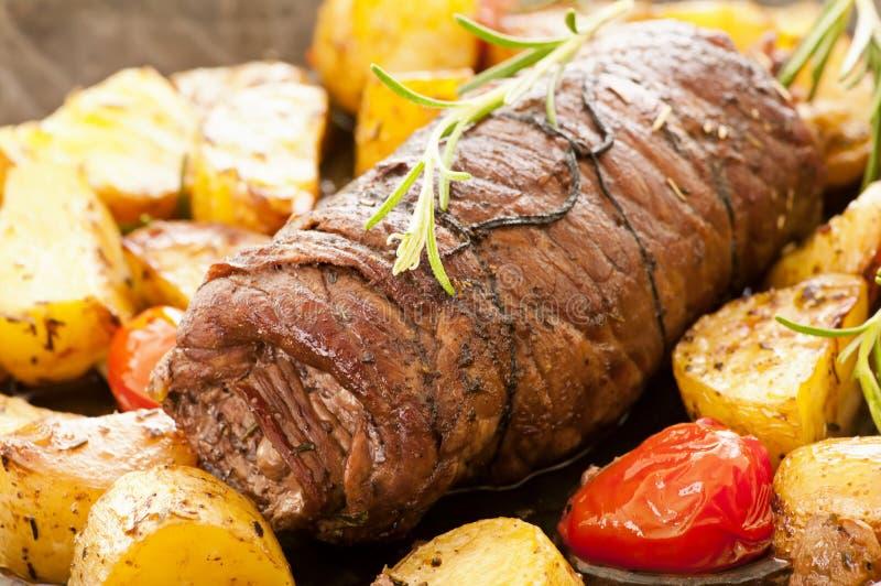 牛肉肉卷 库存照片