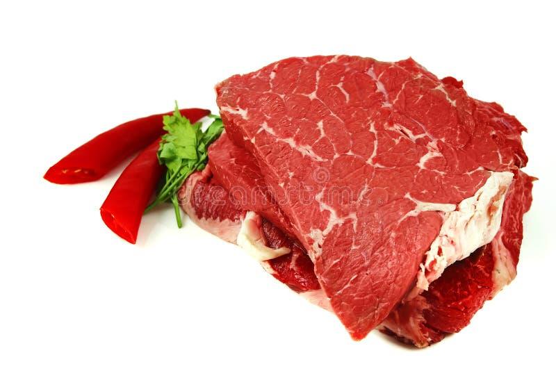 牛肉肉原始的牛排 库存照片
