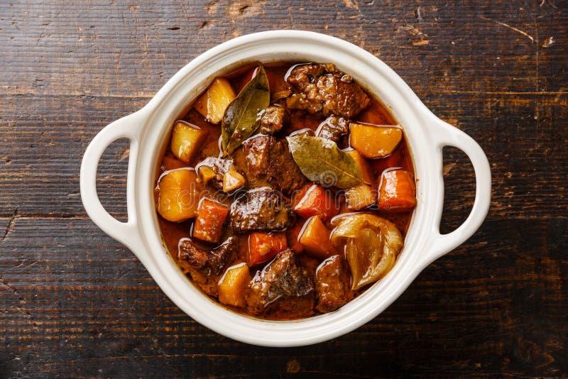 牛肉肉炖用土豆 免版税库存图片