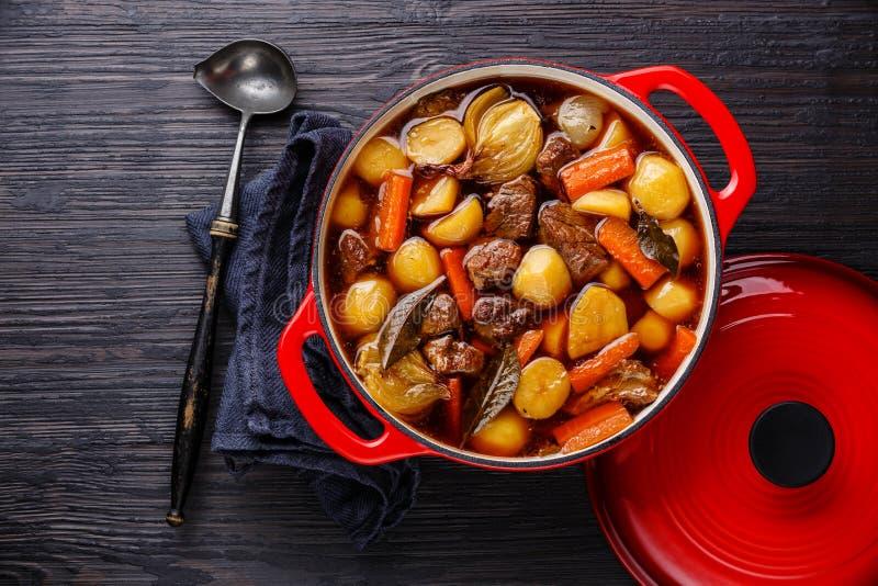牛肉肉炖用土豆 免版税图库摄影
