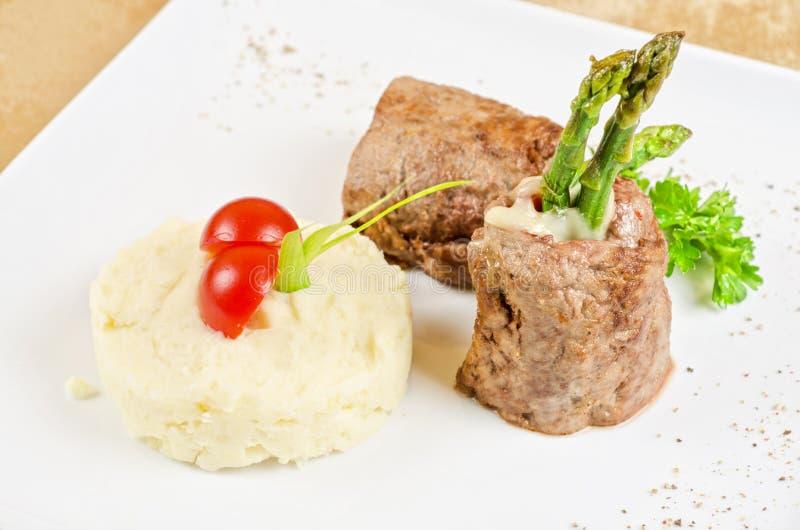 烤肉卷 免版税库存照片