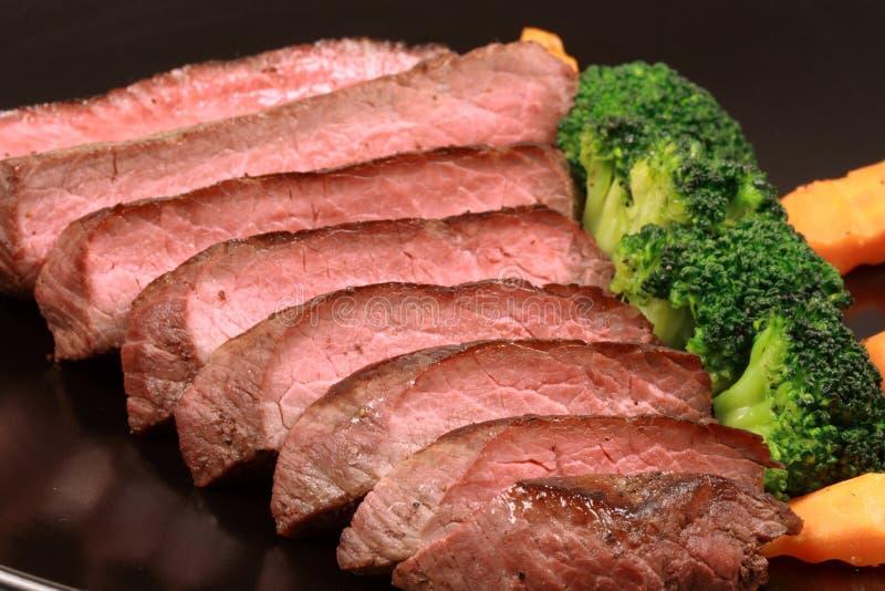 牛肉被盘问的招标 免版税图库摄影
