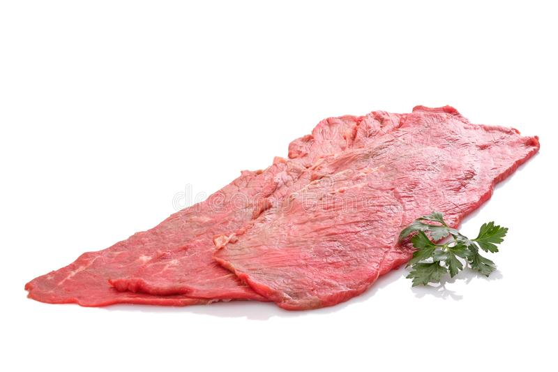 牛肉顶边未加工为卷 免版税图库摄影