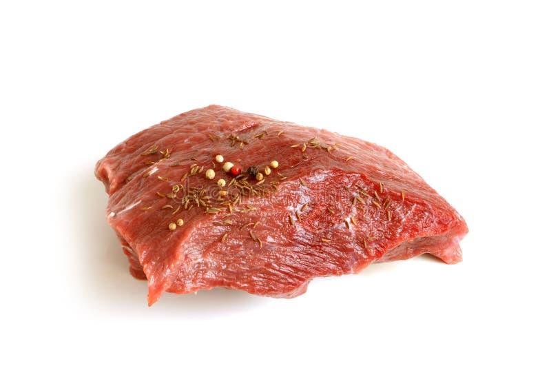 牛肉鲜肉原始的香料 图库摄影