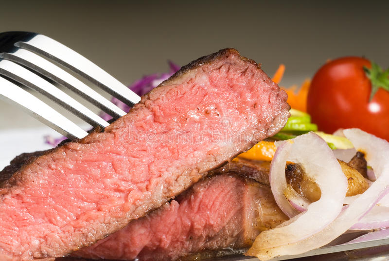 牛肉ribeye牛排 库存照片