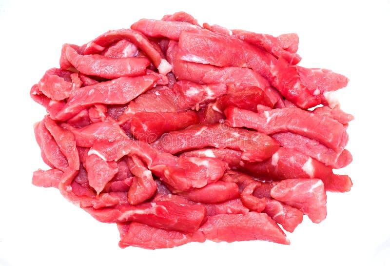 牛肉Stirfry小条 免版税图库摄影