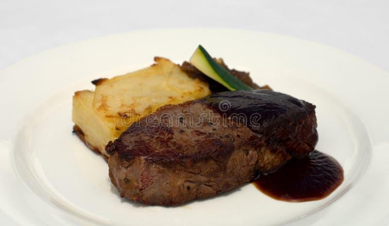 牛腰肉排 库存图片