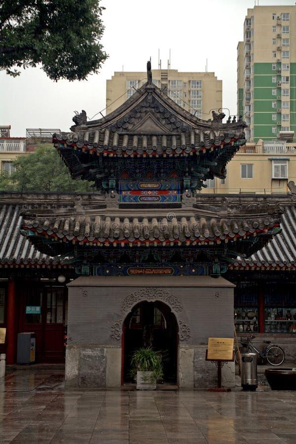 牛街礼拜寺的南石碑亭子,北京,中国 库存图片