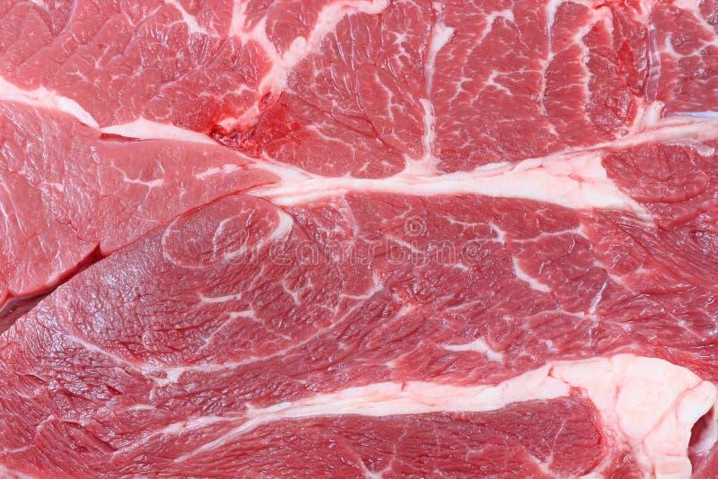 牛颈肉接近的牛排视图 免版税库存照片