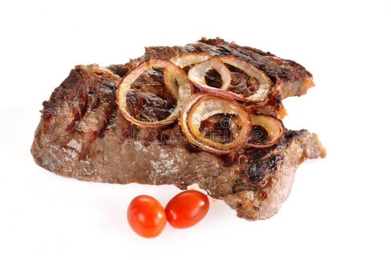 牛颈肉烘烤白色 免版税库存图片