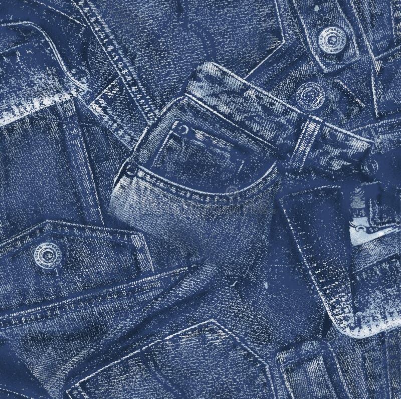 牛仔布材料, 免版税库存照片